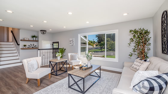 Living space designed by Mableton Home Improvement